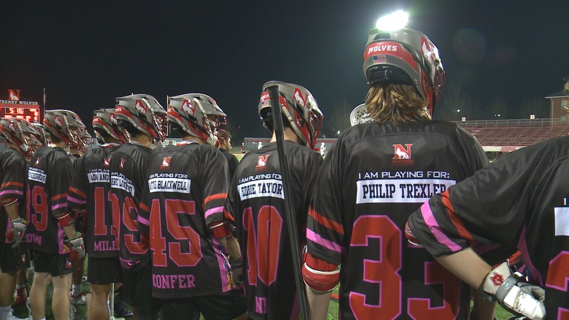 best loved 43a12 e638c SC lacrosse team plays for those affected by cancer | wltx.com