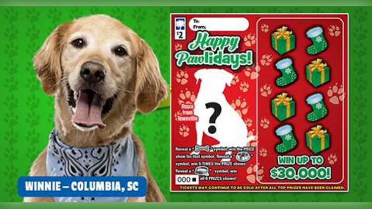 Who's the lucky dog? Enter your pup to appear on SC Lottery scratch off