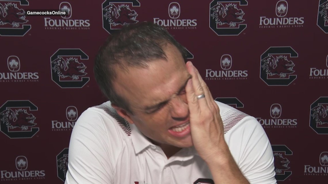 Beamer reacts to the win over Troy