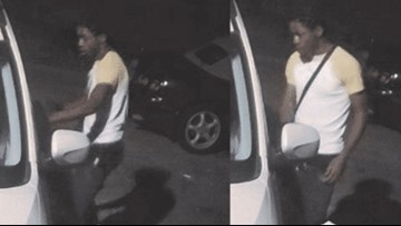 Police searching for man caught on camera breaking into car