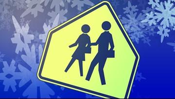 Monday school closings and delays