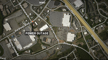 Power outage snarls traffic in Harbison Wednesday afternoon