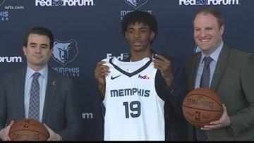 Memphis meets and greets Morant