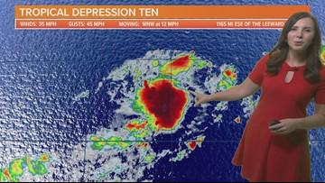 Tropical Depression Ten forms in the Atlantic Ocean 9/17/19