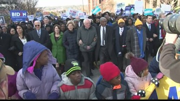 Presidential candidates, community honor Martin Luther King Jr. at prayer service and march to the State House