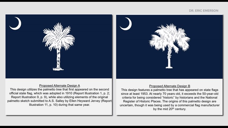 Designers release proposals for official South Carolina flag