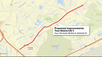 SCDOT plans to improve Two Notch Rd, public comment wanted