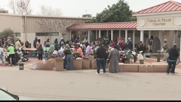 Food banks help Allen Benedict Court residents