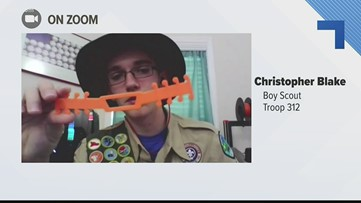 Local Boy Scout makes mask extenders for frontline workers