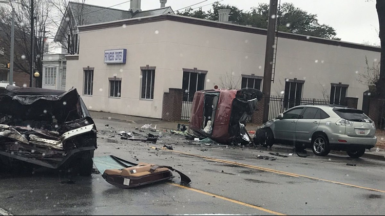 speeding driver caused car to roll over in columbia three car crash