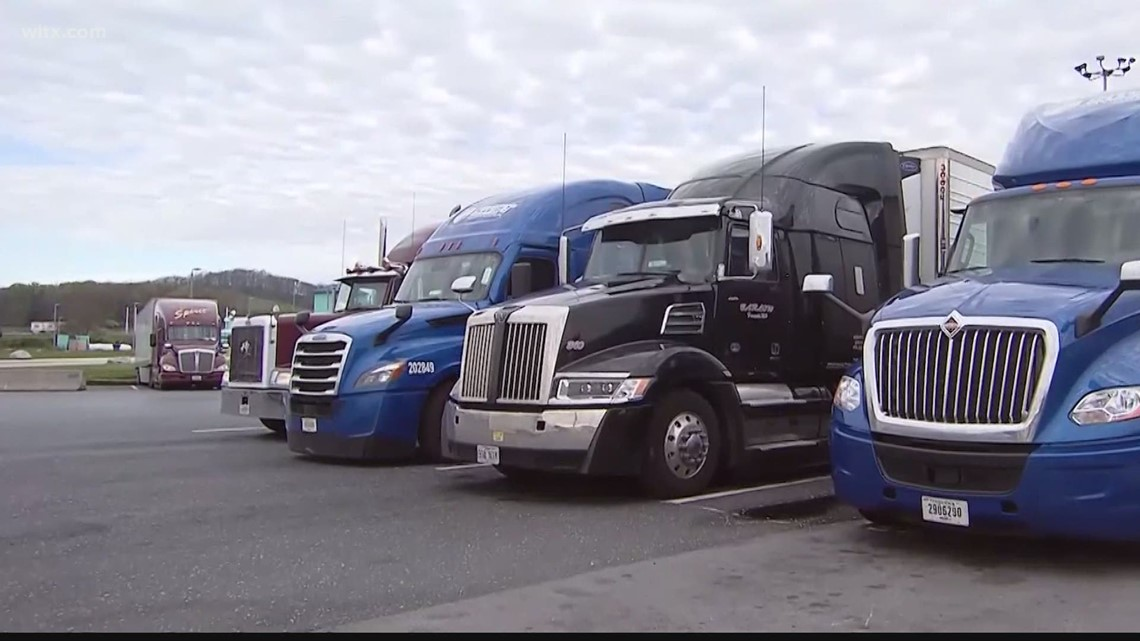 Less truckers means store shelves slower to fill