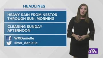 Danielle's Saturday evening forecast 10/19/19
