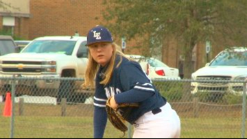 She is now the first female starting pitcher for a boy's high school team in the Midlands
