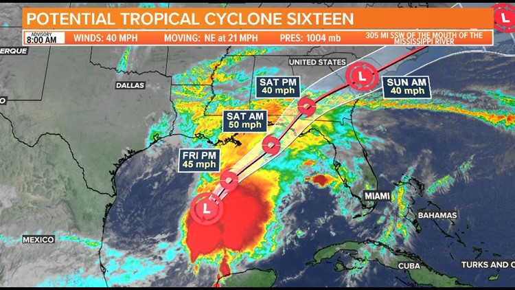 8am Potential Tropical Cyclone 16