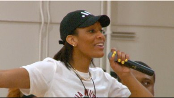 WNBA Star Hosts Very First Basketball Camp At Her Old High School