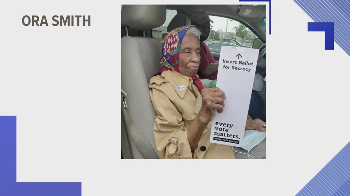 102-year-old South Carolina woman casts her vote at the polls