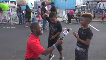Kids enjoy doing Fortnite dances at the South Carolina State Fair