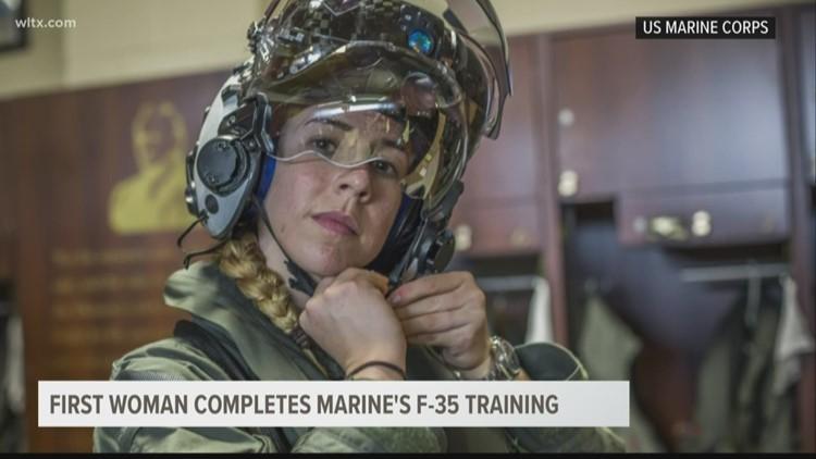 Beaufort Marine becomes first female F-35B pilot