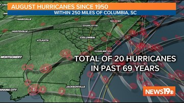 A history of damaging August hurricanes in South Carolina