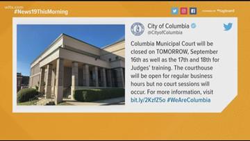 Columbia Municipal Court closed through Wednesday