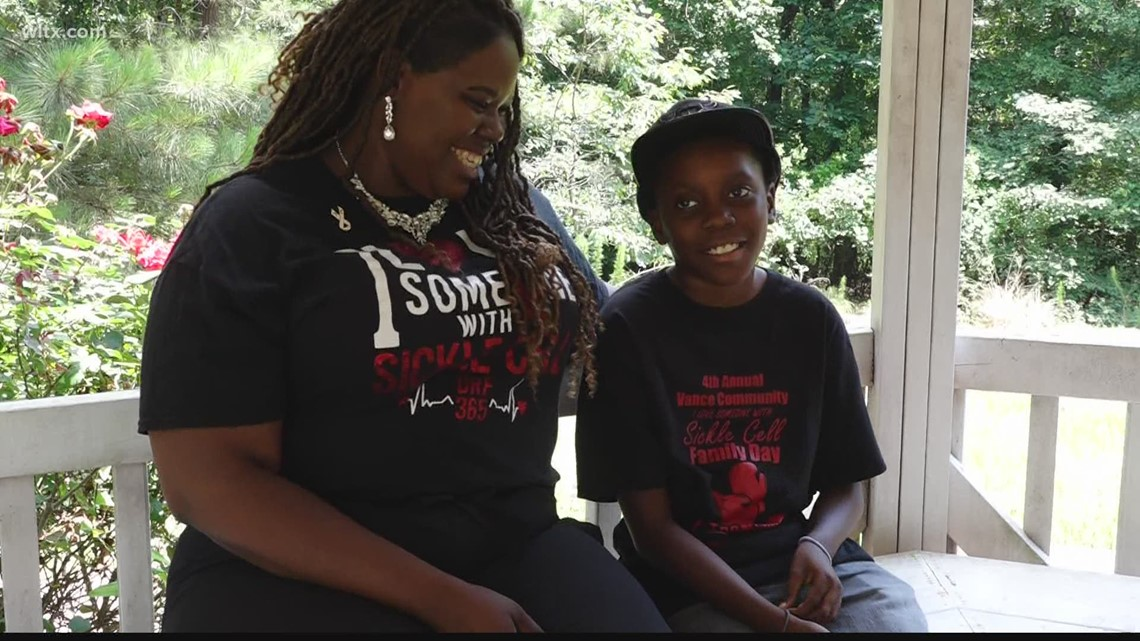 Midlands mother, son work to raise awareness about sickle cell disease