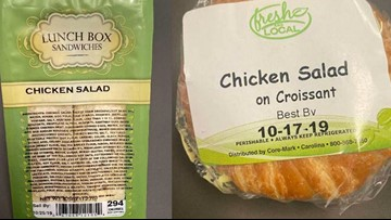South Carolina company recalls packaged sandwiches