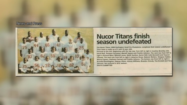 Carraway coaches football team to a state championship.