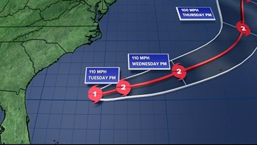 Humberto strengthens to category 1 hurricane in the Atlantic