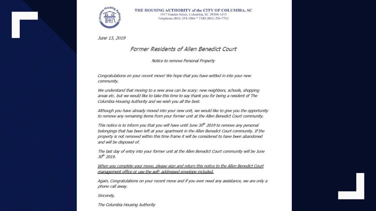 Housing Authority Letter to residents