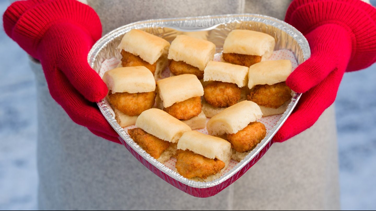 Chick-fil-A Heart-Shaped Trays