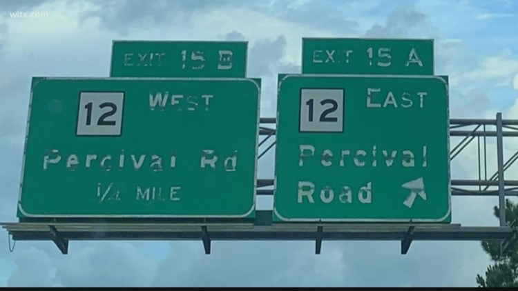 Faded interstate signs on    I-77 to get a fix