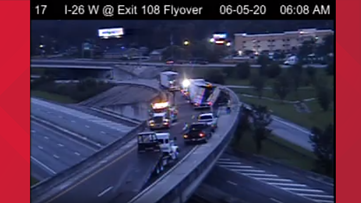 All lanes reopened on I-26 after early morning crash