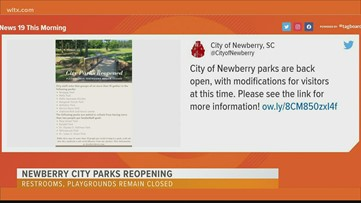 Newberry parks reopen, restrooms and playgrounds to remain closed