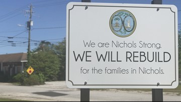 'It will mean a whole lot,' Organization donates $50k to help the Town of Nichols rebuild