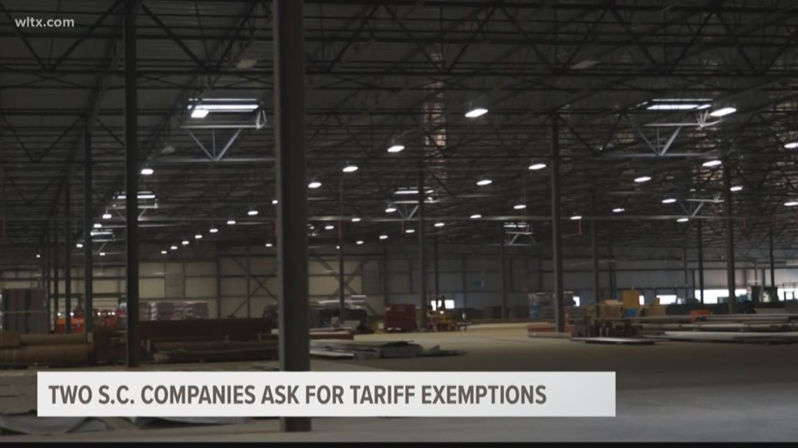Two SC companies ask for tariff exemptions