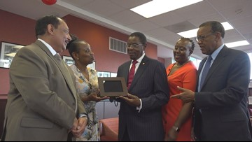 Claflin community bids a fond farewell to longtime President