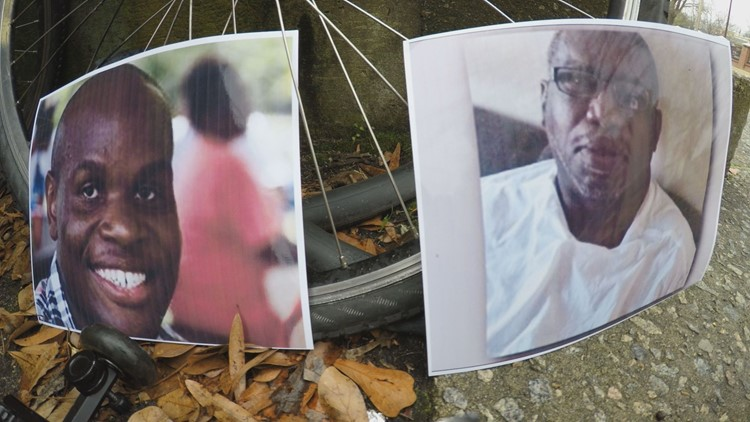Images of Derrick Roper and Calvin Witherspoon outside of their homes