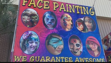 Face painter at SC State Fair explains his craft