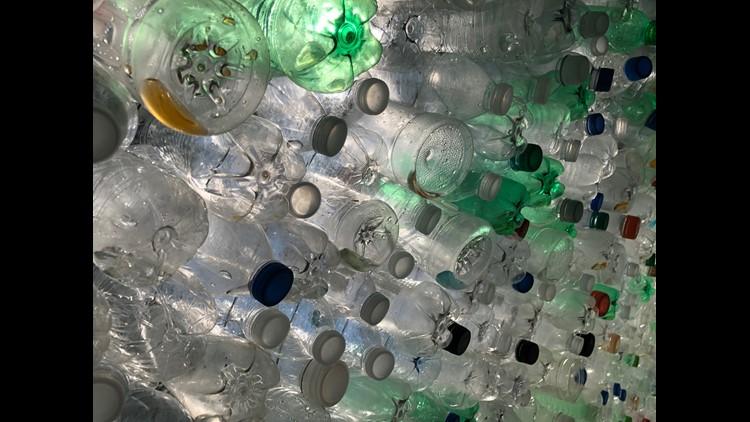 12 000 Water Bottles Turn Into Art Bringing Awareness To