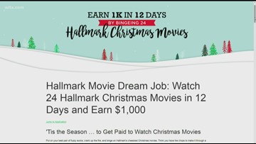 Hallmark will pay you $1,000 to watch 24 holiday movies