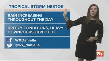 Danielle's Saturday morning forecast 10/19/19
