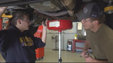 Swansea High students fixing cars for free to those in need
