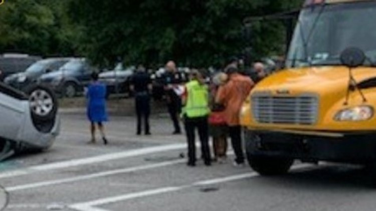 Richland One school bus involved in accident on Two Notch Road