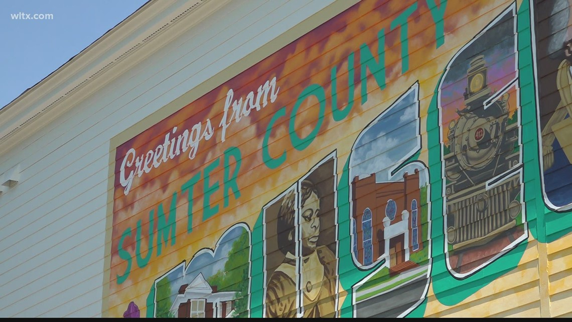 New murals take shape in downtown Sumter