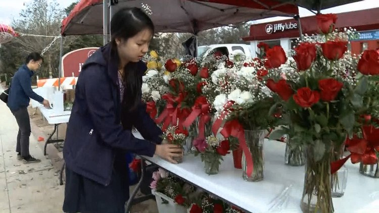 Youth Corps SC learn leadership skills through Valentine's Day flower sales