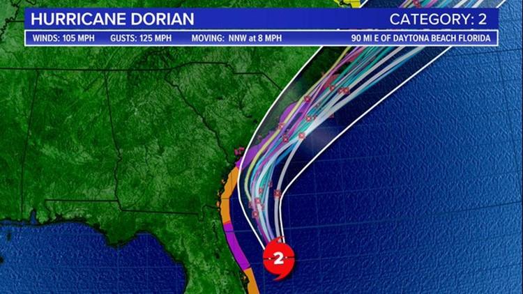 Hurricane Dorian 5 am spaghetti sept 4
