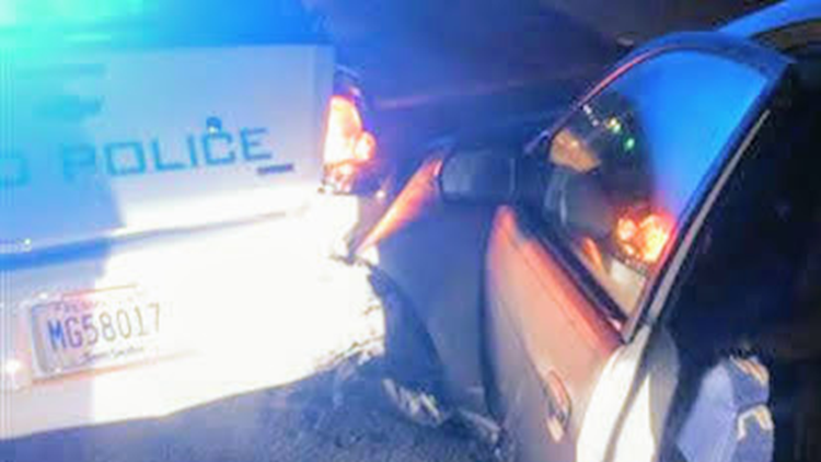 Irmo officers narrowly escape injury after suspected DUI driver slams into patrol car