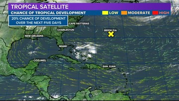 Possible tropical system developing in the Atlantic