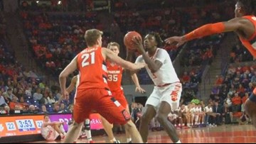 Mack and Trapp lead Clemson to win over Syracuse