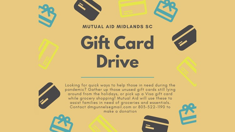 Mutual Aid Midlands gift card drive information